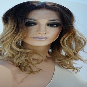 Gorgeous Ombre Human Hair Dirty Blonde Wig